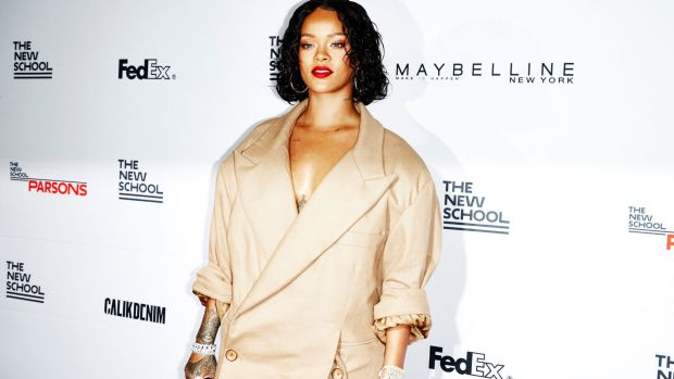Rihanna at the 69th annual benefit and student fashion show at Parsons School of Design.