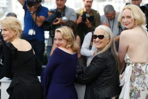 From left, Nicole Kidman, Elisabeth Moss, Jane Campion and Gwendoline Christie – whose Top of the Lake: China Girl  ...