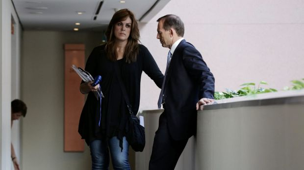 Former prime minister Tony Abbott with his chief of staff Peta Credlin.