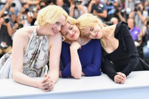 Actors Gwendoline Christie (left), Elisabeth Moss and Nicole Kidman attend a photocall for Top of the Lake: China Girl, ...