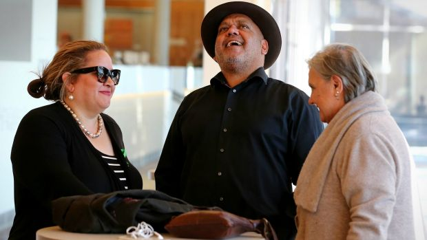 Megan Davis, Noel Pearson and Pat Anderson in conversation at the First Nations National Convention in Uluru last May.