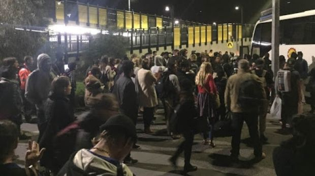 Hundreds of V/Line passengers stranded at Sunshine train station on Friday night.