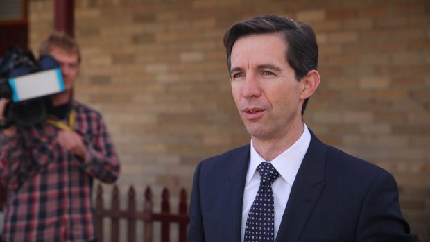 """Robust discussions"": Education Minister Simon Birmingham."