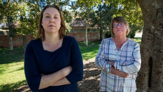 Gail Winters (left) and Christine Layt say they have been left with no options following the collapse of Careers Australia.