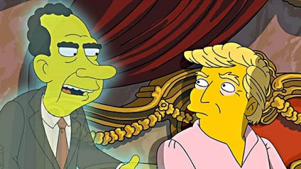 President Donald Trump Is Visited by Richard Nixon's Ghost on The Simpsons