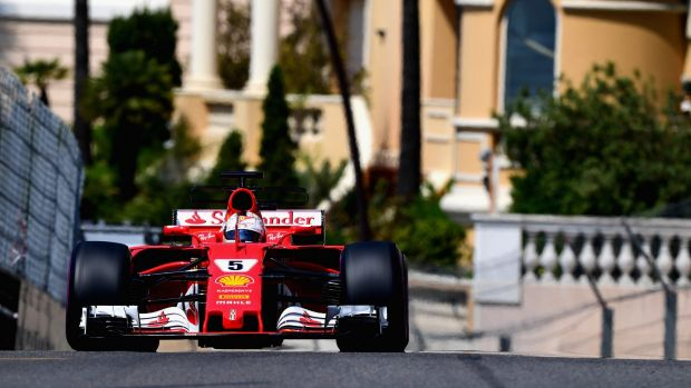 Sebastian Vettel's Ferrari owned the Monte Carlo street circuit in final practice.