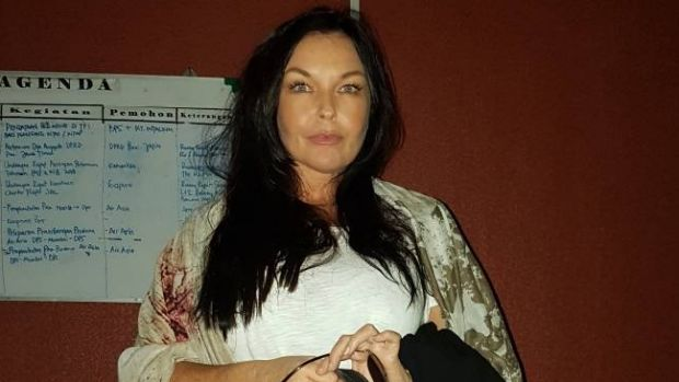 Schapelle Corby at At Ngurah Rai airport in Denpasar on Saturday.