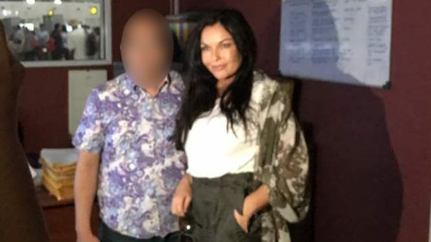 Schapelle Corby at the airport with a friend.