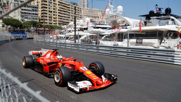 Sunday cruise: Ferrari driver Sebastian Vettel of Germany earned top spot on the podium at the Monaco GP.