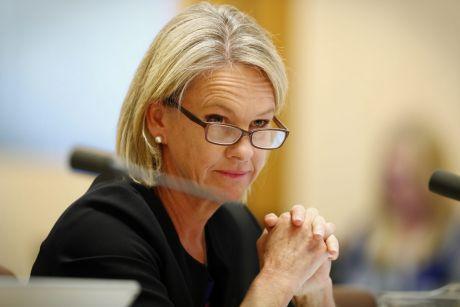 Senator Fiona Nash during a Senate estimates hearing at Parliament House in Canberra on Monday 29 May 2017. fedpol ...