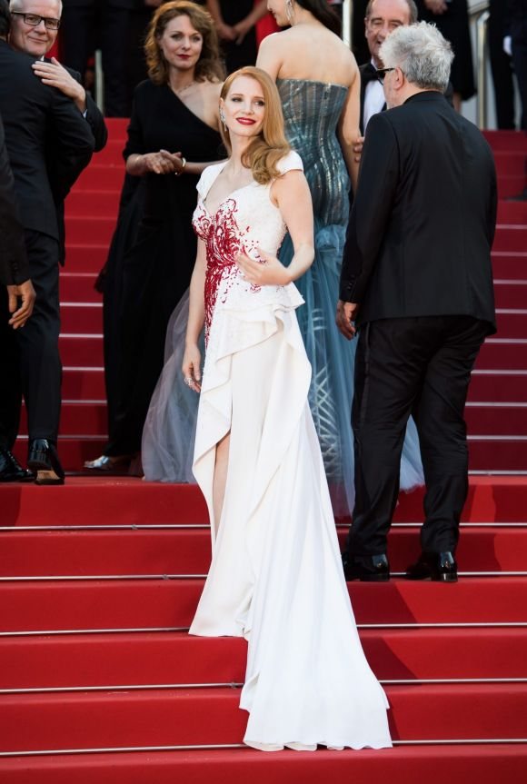 Jessica Chastain attends the Closing Ceremony of the 70th annual Cannes Film Festival.