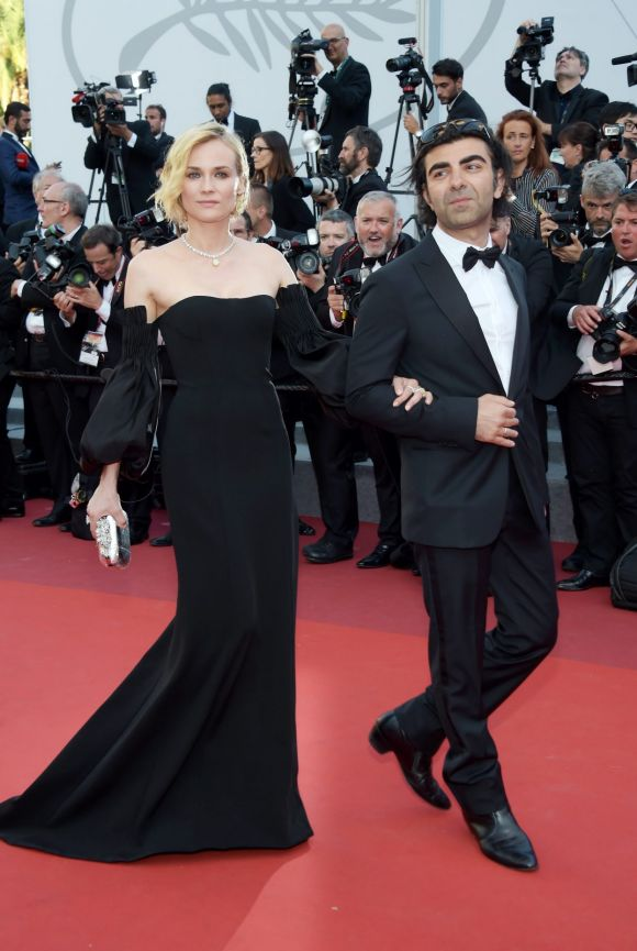 Actress Diane Kruger and director Fatih Akin of the 'In The Fade (Aus Dem Nichts)' attend the Closing Ceremony during ...
