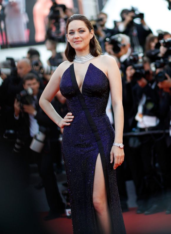 Actor Marion Cotillard attends the 70th Anniversary of the 70th annual Cannes Film Festival at Palais des Festivals.