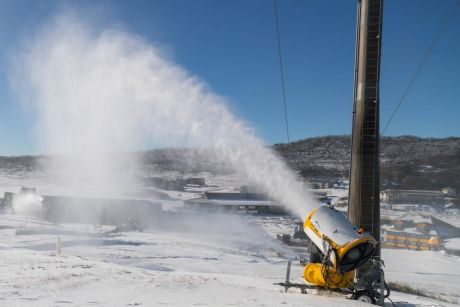 Perisher snow cannons going full throttle.