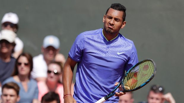 Kyrgios pointed to the death of his grandfather in April as an explanation for his second round exit at the French Open.