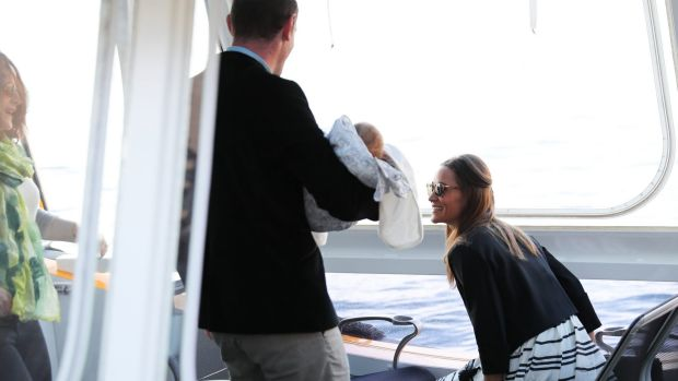 Pippa Middleton and James Matthews travelled on a water taxi with friends in Sydney on Wednesday.