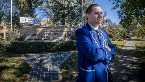 St Edmund's College Year 12 student John-Paul Romano has been suspended after trying to organise a student strike on ...
