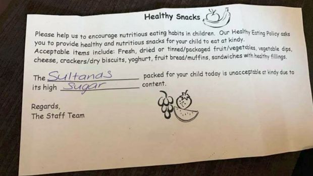 A parent posted this photo of a note sent home with their child to social media last week.