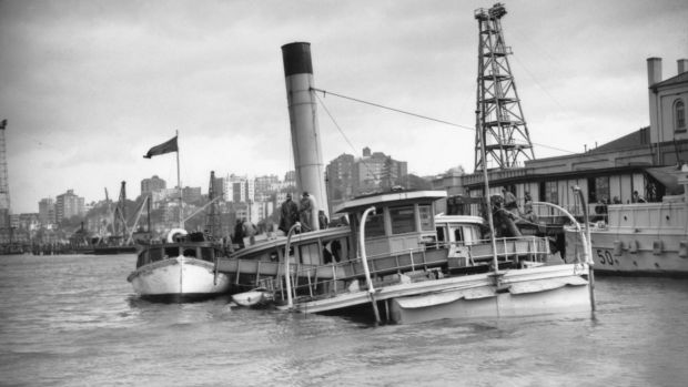 An image of HMAS Kuttabul after it had been sunk from the documentary Sydney at War.