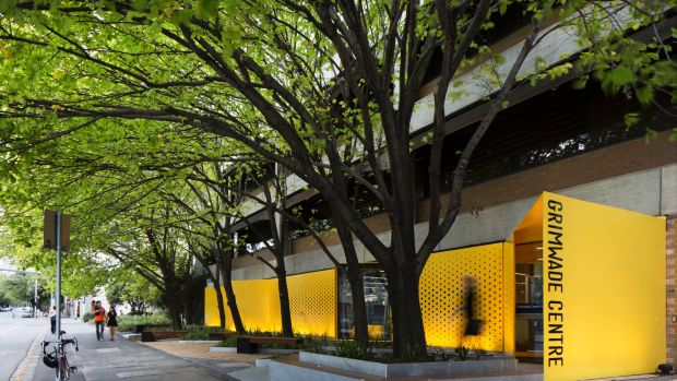 The Grimwade Centre for Cultural Materials Conservation by JCB Architects has replaced brickwork with a vibrant yellow ...