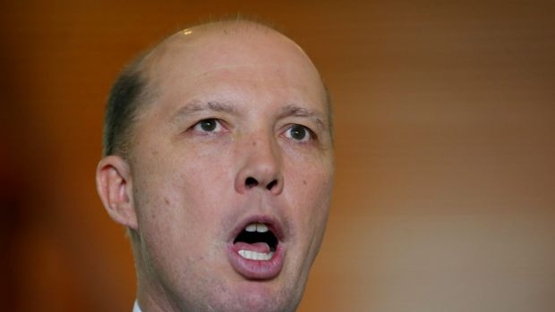 """They can be of any background, they can come to this country on any visa"": Immigration Minister Peter Dutton."