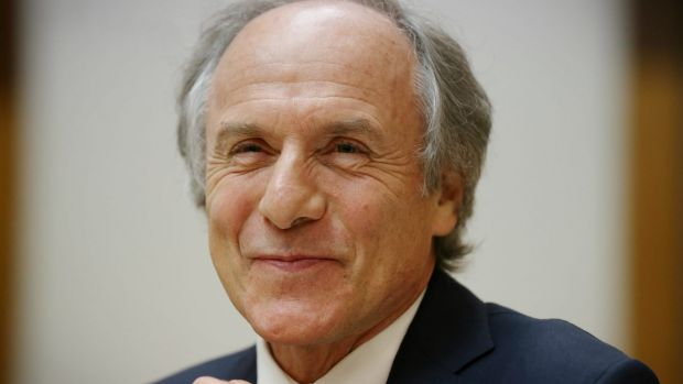 Chief Scientist Dr Alan Finkel during a Senate Estimates hearing at Parliament House in Canberra last week.