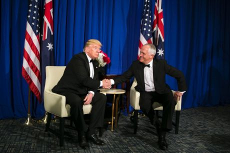 """Donald Trump: """"I shouldn't say this to … my friend from Australia, because you have better healthcare than we do."""""""