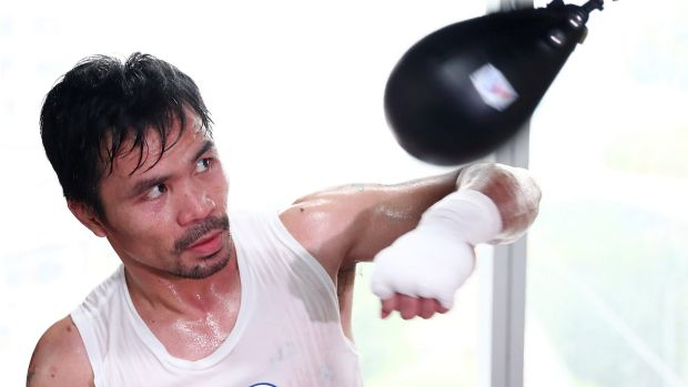 Upping the intensity: Manny Pacquiao training in Manila.