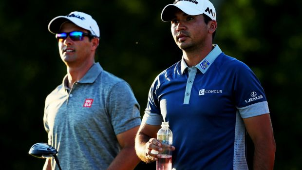 Top 100 debutants: Adam Scott (L) and Jason Day.