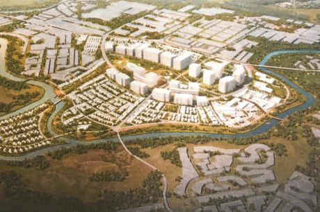 A proposal by Chinese developer Zhongren for the Maribyrnong Defence Site would include up to 6000 homes. Source: Zhongren