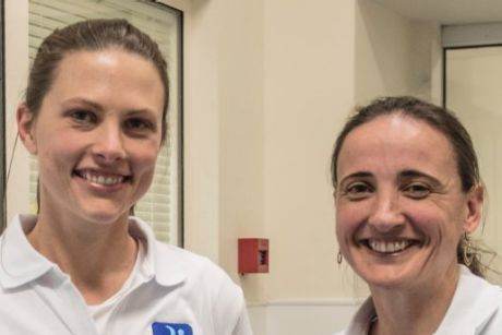 Dr Bethan Richards with medical registrar Louise Ward at RPA who are running a program to reduce stress and anxiety in ...