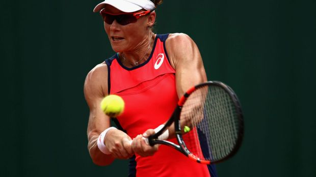 Bad hand: Samantha Stosur's injury is set to keep her out of Wimbledon.
