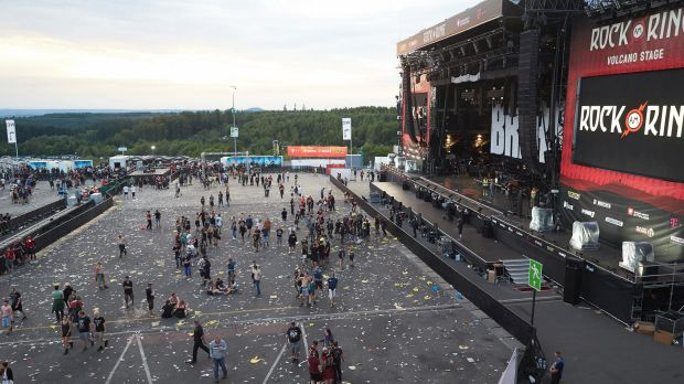 The festival site was evacuated over a terror threat