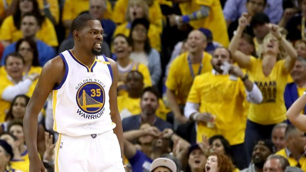 No one better: Kevin Durant was enormous in game one of the NBA Finals.