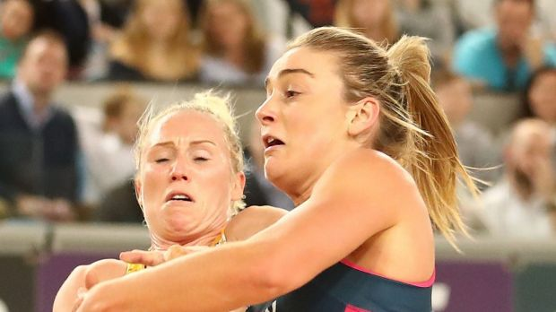 Peak form: Laura Langman will be a pivotal figure for the Lightning in the Super Netball grand final.