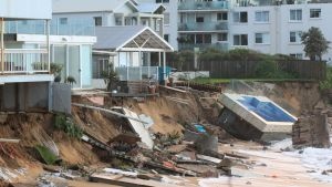 Houses at Collaroy Beach took the brunt of the June 2016 storm.