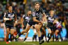 CANBERRA, AUSTRALIA - JUNE 03: Kyle Godwin of the Brumbies in action during the round 15 Super Rugby match between the ...