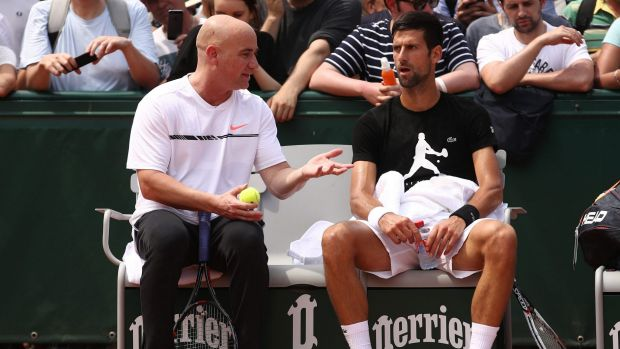 No charge as Agassi works for free with Djokovic