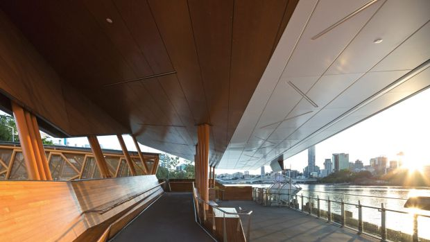 Flood damage in Brisbane in 2011 led to Aurecon's design of a ferry terminal gangway with a flotation chamber that ...