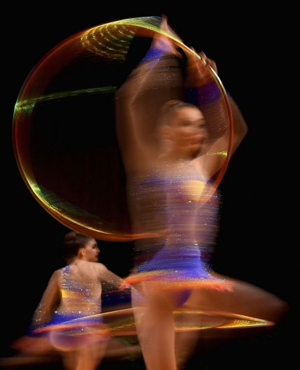 Queensland compete during the Rhythmic Gymnastics Group Final during the Australian Gymnastics Championships at Hisense ...