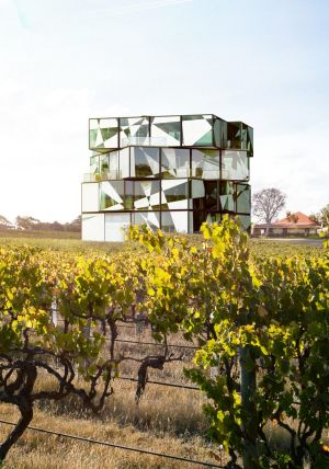 The d'Arenberg Cube, an innovative multifunction building being constructed amid vines, will enjoy views overlooking the ...