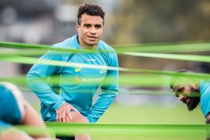 Revitalised: Will Genia training with the Wallabies.