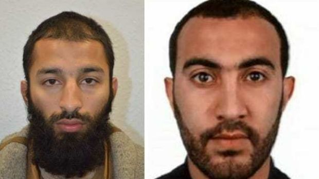 British police identified Khuram Shazad Butt (left) and Rachid Redouane as two of the London Bridge attackers.