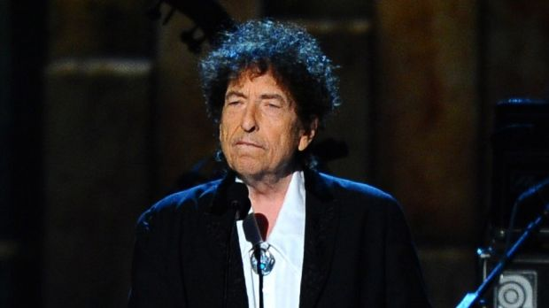 Bob Dylan, winner of the 2016 Nobel Prize for Literature and Kazuo Ishiguro's inspiration.