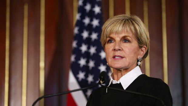Australian Minister for Foreign Affairs Julie Bishop.