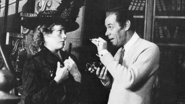 Julie Andrews with Rex Harrison in the original stage production of My Fair Lady in the mid-1950s.