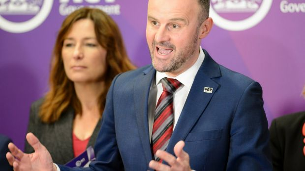 ACT Chief Minister Andrew Barr launching the 2017 budget in June: More worried about the asset-poor who can't buy a ...