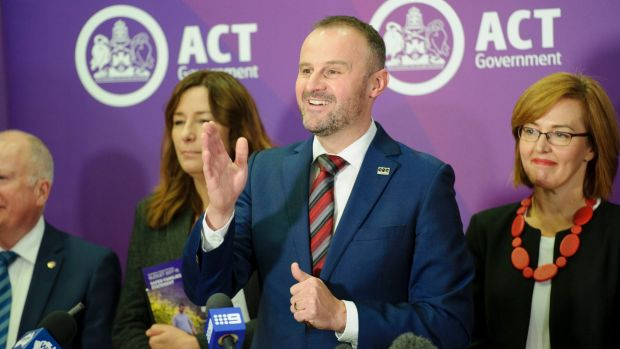 ACT Chief Minister Andrew Barron budget day.