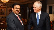 Gautam Adani and Prime Minister Malcolm Turnbull.