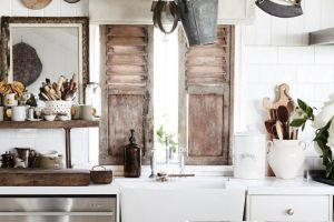 """The kitchen of stylist and photographer Kara Rosenlund is filled to the brim with """"old, loved, weathered and worn ..."""